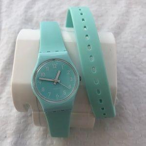 Swatch Wrap Around Watch - Light Blue